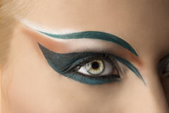 Open oogclose-up met make-up Royalty-vrije Stock Fotografie