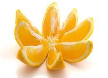 Open orange. Isolated on the white background stock image