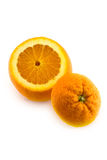 Open orange with bottom isolated Royalty Free Stock Photography