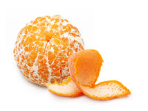 Open orange fruit, mandarin Royalty Free Stock Images