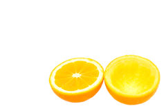 Open orange half a squeezed Royalty Free Stock Photography