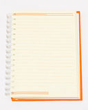 Open Orange notebook Royalty Free Stock Images
