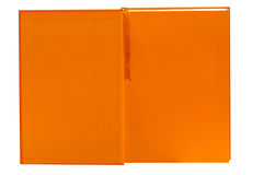 Open orange notebook isolated Stock Photography