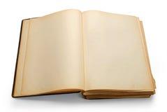 Open oud boek met blanco pagina's. Royalty-vrije Stock Afbeeldingen
