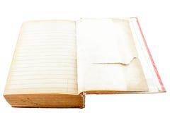 Open oud boek met geïsoleerde lijn Stock Afbeelding