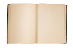 Open oud boek met lege pagina's Royalty-vrije Stock Afbeelding