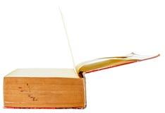 Open oud geïsoleerd boek Stock Fotografie