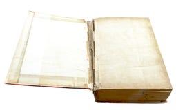 Open oud geïsoleerd boek Royalty-vrije Stock Foto's