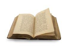 Open oud godsdienstboek op oude slovenic taal   Stock Afbeeldingen
