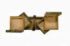 Open oud houten geval Royalty-vrije Stock Afbeeldingen