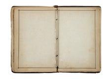 Open oud leeg boek Stock Foto's