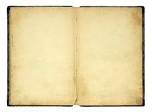 Open oud leeg boek Royalty-vrije Stock Afbeeldingen