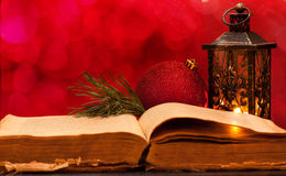 Open oude Bijbel Royalty-vrije Stock Fotografie