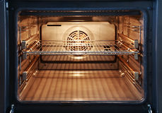 Open oven. Empty open oven ready for baking Stock Photography