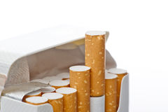 Open pack of cigarettes Royalty Free Stock Image