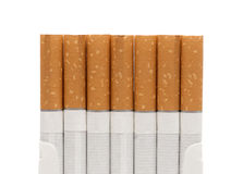 Open a pack of filtered cigarettes closeup Stock Image