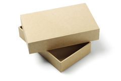 Open Packaging Box. Open Cardboard Packaging Box On White Background Stock Image