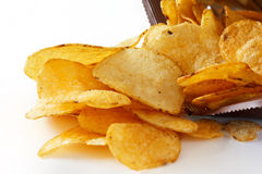 Open packet of crisps Stock Photos