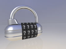 Open pad lock Stock Photos