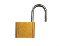 Open Pad Lock Royalty Free Stock Photo