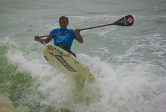 Open Paddle Board of Santa Cruz Ocean Spirit Royalty Free Stock Photo