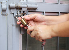 Open padlock Stock Photos