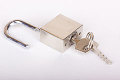 The open padlock Royalty Free Stock Photography