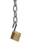 Open padlock and chain Stock Photo