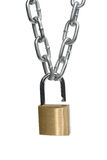 Open padlock and chain Royalty Free Stock Images