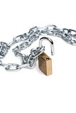 Open padlock and chain Royalty Free Stock Photography