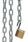 Open padlock and chains Stock Photos