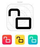 Open padlock icon. Vector illustration royalty free illustration