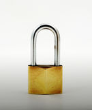 Open Padlock, isolated on white background Stock Photos
