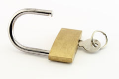 Open Padlock and Keys Royalty Free Stock Photography