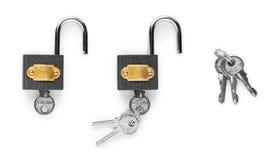 Open padlock Royalty Free Stock Image