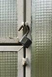 Open padlock Stock Photo