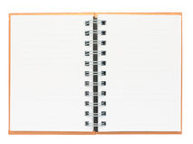 Open page of brown notebook Royalty Free Stock Images