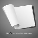 Open page magazine Royalty Free Stock Images