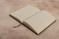Open page notebook Royalty Free Stock Image