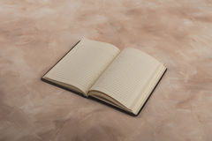 Open page notebook Royalty Free Stock Photo
