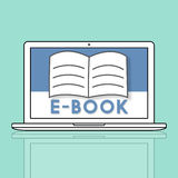 Open Pages Book E-Book Online Learning Graphic Concept Stock Photos