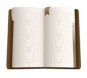 Open pages of notebook. Illustration isolated on white background Stock Photos
