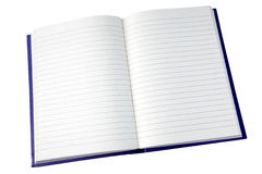 Open pages of a notebook. Royalty Free Stock Photography