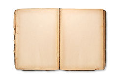 Open pages of old book Royalty Free Stock Photos