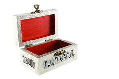 An open painted jewelry box Stock Image