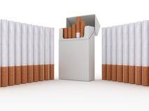 Open pak sigaretten royalty-vrije illustratie