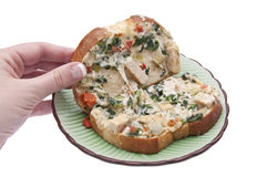 Open Panini Sandwich Royalty Free Stock Photo