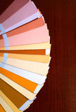 Open pantone sample colors catalogue Royalty Free Stock Images