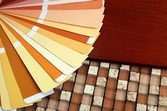Open pantone sample colors catalogue Royalty Free Stock Photo