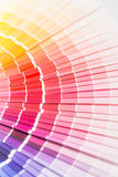 Open Pantone sample colors catalogue. royalty free stock photography
